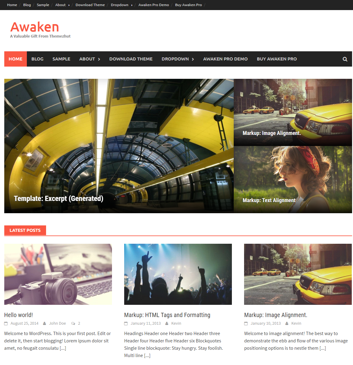 Awaken Magazin Wordpress Theme Kostenlos