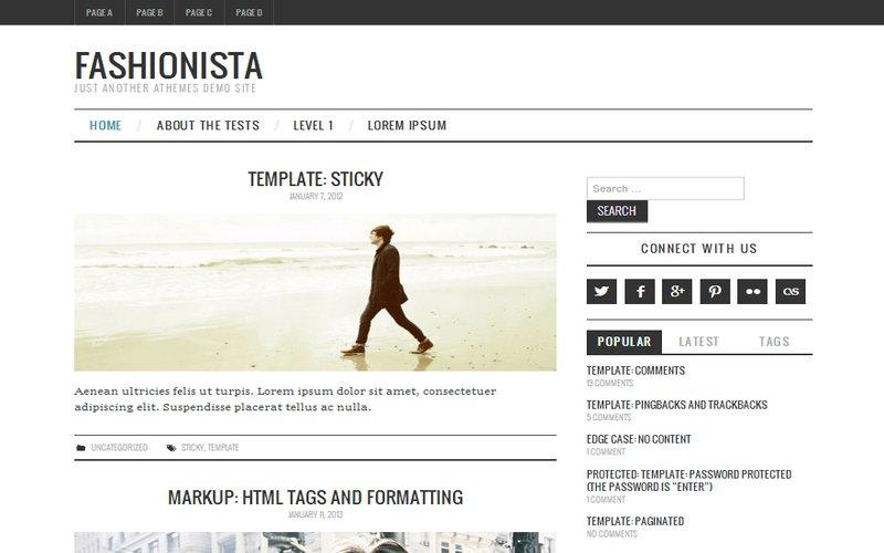 fashionistas wordpress theme