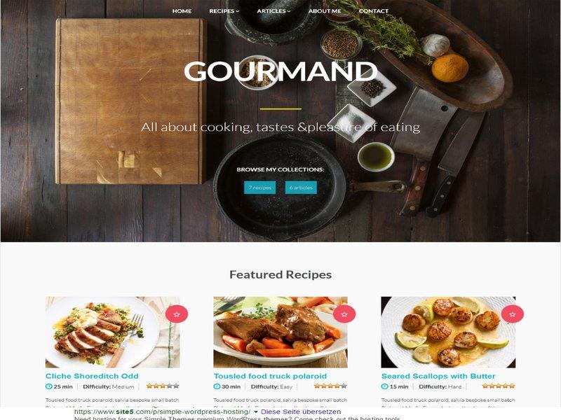 Gourmand Rezepte Wordpress Theme