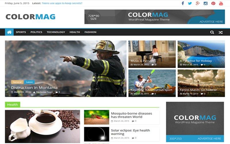 Colormag kostenloses Magazine Theme