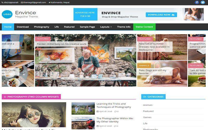 Kostenloses Wordpress Magazin Theme