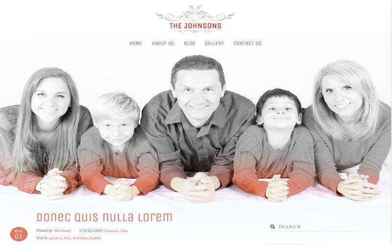 The Johnsons kostenloses Familien Wordpress Theme