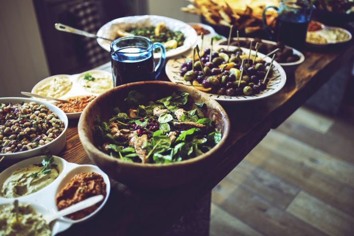 Gesundes Food Buffet