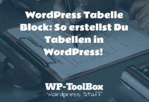 WordPress Tabelle