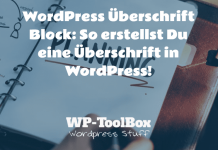 Überschriften-Block in WordPress