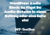 Audio WordPress