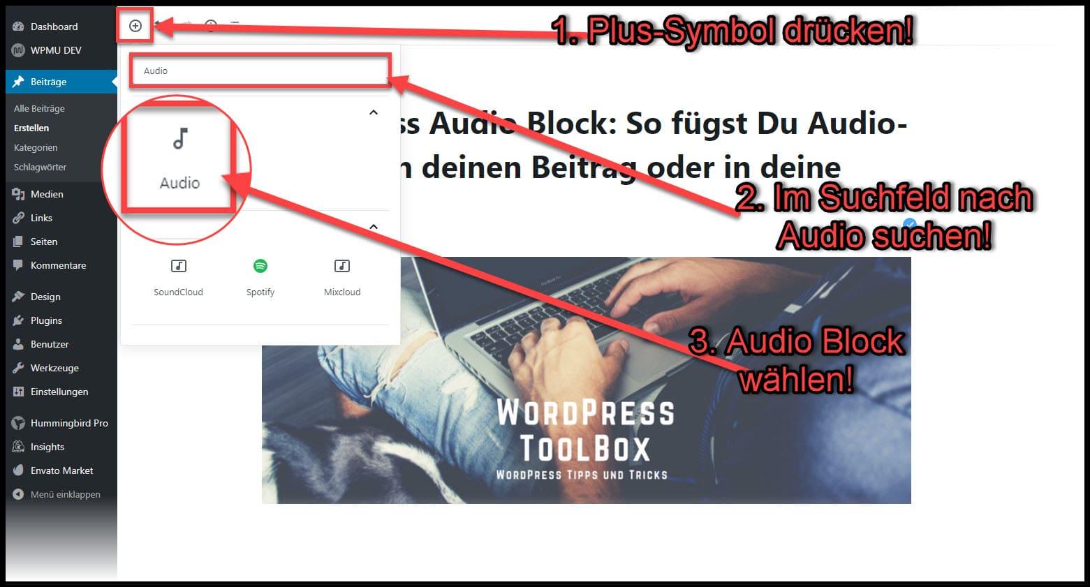Audio-Datei  WordPress