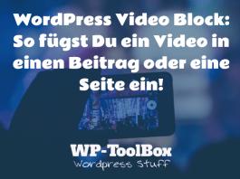 Video Block WordPress