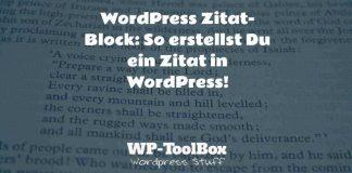 Zitat Block in WordPress