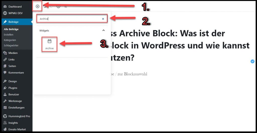 Der Archive Block in WordPress: So fügst Du ihn ein!