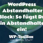 Abstandhalter in WordPress