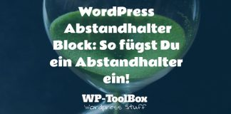 Abstandhalter in WordPress