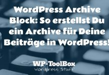 Archive für WordPress