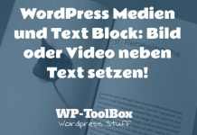 Bild neben Text in WordPress