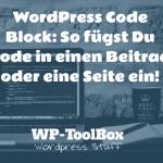 Code in WordPress einfügen