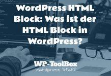 HTML Block WordPress