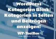 Kategorien in WordPress
