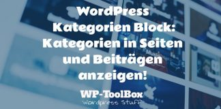 Kategorien in WordPress