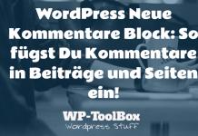 Kommentare in WordPress