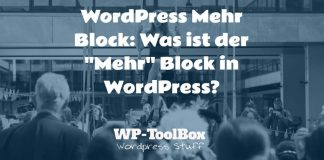 Mehr Block in WordPress