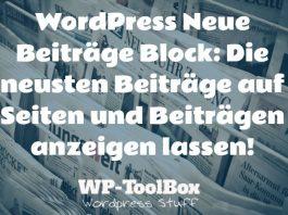Neuste Beiträge WordPress