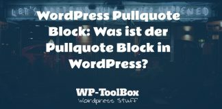 Pullquote Block WordPress