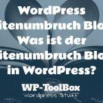 Seitenumbruch in WordPress