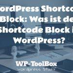 Shortcode in WordPress