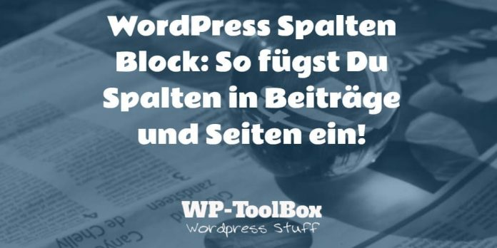Spalten in WordPress