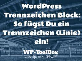 Trennzeichen in WordPress