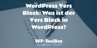 Vers Block WordPress