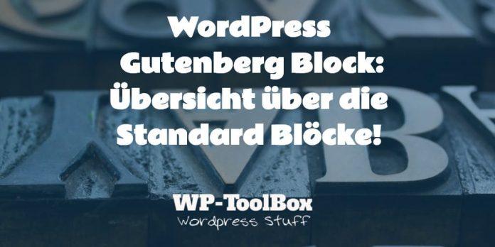 Gutenberg Blöcke