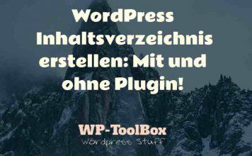 Inhaltsverzeichnis mit WordPress