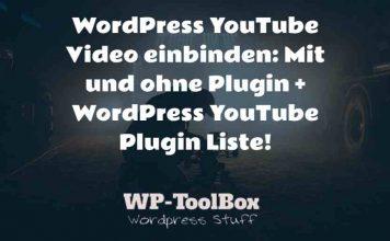 YouTube Video WordPress